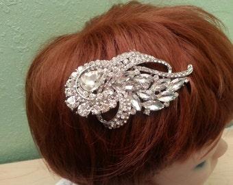 Your Choice of Rhinestone Bridal Combs , Hair Jewelry
