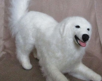 Needle Felted Great Pyrenees - Playbow