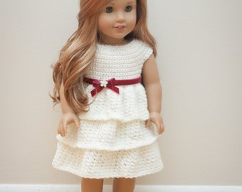 The Ally Dress Crochet Pattern- Crochet American Girl Doll Pattern