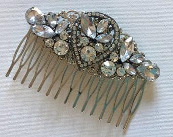 Bridal Hair Comb, Rhinestone Hair Piece, Bridal Barette, Wedding Hair Accessories Comb
