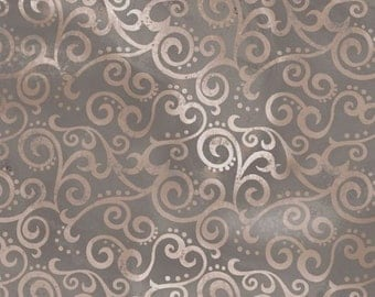 Quilting Treasures - Basics - Ombre Scroll - Stone