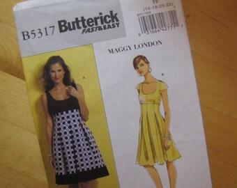 Uncut Butterick 5317 Sewing Pattern - Misses Dress - Size 16-22