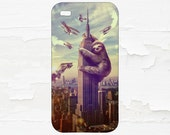 Godzilla Sloth -  Funny Sloth Cell Phone Case - iPhone Case - iPod Touch 5 Case - Samsung Galaxy Case