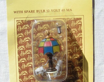 80s Miniature Doll House TIFFANY LAMP by Houseworks Electric in Package
