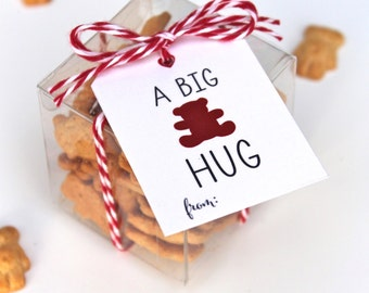 BEAR HUG Valentines Tag