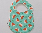 Foxy Adjustable Side Snap Bib with Minky Back