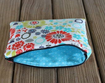 Small Cosmetic Bag, Makeup Bag, Small Bag, Small Pouch, Zipper Makeup Bag