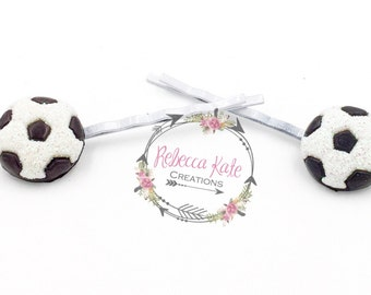 Sparkly Soccer Bobbies/Bobby Pins/Soccer/Sports