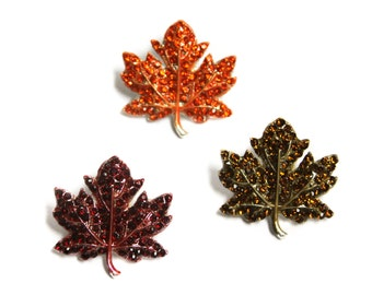 Fall Maple Leaf  Sliders - set of three