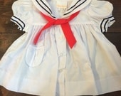 Vintage Sailor Dress 6-12 months