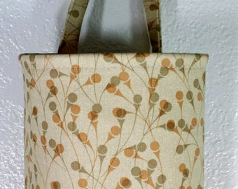 Plastic Bag Holder, Grocery bag holder, plastic bag dispenser, bags organizer- Ivy Cream Faux Leather Vinyl