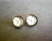 NSEW Arrow Stud Earrings : Compass Wanderlust Jewelry
