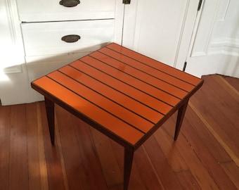 Frank Rohloff Peter Pepper Resin & Walnut Side Table