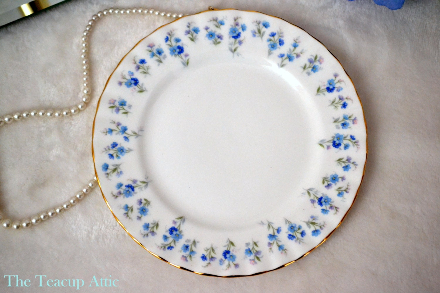Royal Albert Memory Lane Bread and Butter Plate, English Bone China Bread And Butter, Afternoon Tea, Replacement China,  ca 1970
