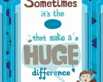 Little things art print poster