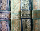 Blue and Teal Sari borders, Sari Trim SR334