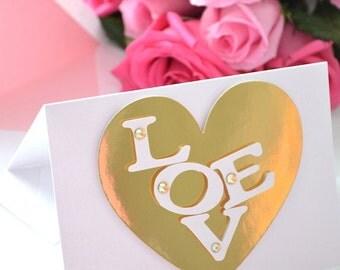 Valentine's Day Greeting Card: 'LOVE'