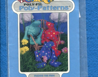 Poly Patterns D-210 Freddie the Frog Size 14 inches UNCUT