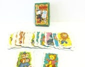 Tummy card game, educational card game, vintage card game, felix the cat rummy