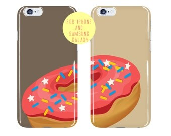 Doughnut Phone Case Friends Gift iPhone 6 Plus Case Donut iPhone 6s Case Wedding Gift Samsung Galaxy s6 Case Half Donut Galaxy s7 Edge Cover