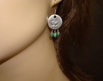Women's Om Turquoise Earrings // Jewelry, Women's Jewelry, Yoga Jewelry, Earrings