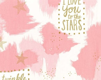 Magic - You are Magic in Pink Metallic - Sarah Jane for Michael Miller - MD7193-PINK-D - 1/2 Yard