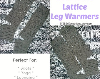 Geometric Lattice Leg Warmers