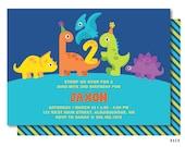 Baby Dinosaur Birthday Invitation, Cute Dinos Invitations, Dinosaur Party, Printed or Printable