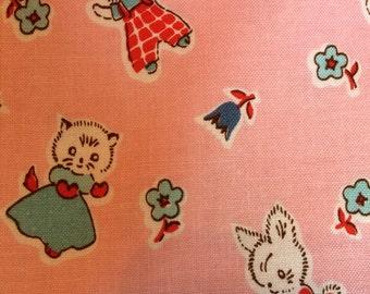 Milk, Sugar & Flower Cat fabric