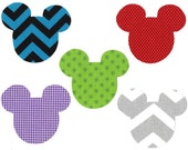Mickey iron on fabric appliques DIY - small