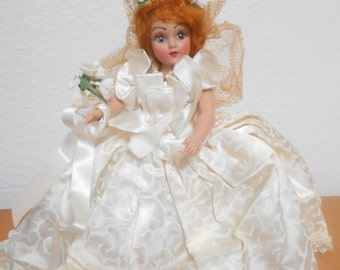 Vintage Bride Doll, Plastic Duchess Doll