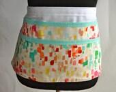 ON SALE! Watercolor apron, Watercolor utility Apron, Women's Vendor Apron, Watercolor print Apron, Art Teacher apron, teacher apron