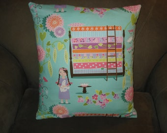 Princess and the Pea Little Girl's Throw Pillow