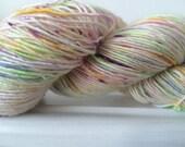 """Hand Dyed Single Merino Sock Yarn """"Light Duties"""" 100g 366m Yards Superwash"""