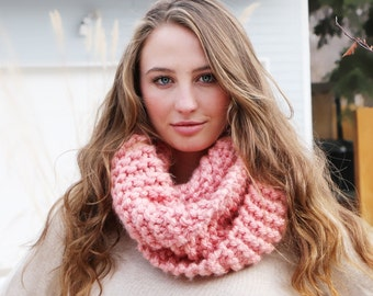 Light Pink Infinity Scarf for Valentine's Day