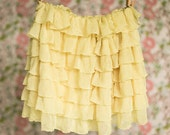 Yellow Ruffle Skirt | Spring skirts | Size 18 mos, 3T, 4T, 5, 6 | Ready to Ship SALE