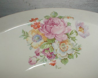 Taylor Smith Taylor Serving Bowl *Old Roses* Country Kitchen *Cottage Decor*
