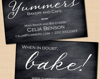 Chalk business card | Etsy