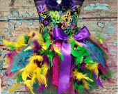 Peacock Feather Dress Peacock Feather Tutu Dress Feather Party Dress - Fancy Peacock Toddler Infant Birthday Pageant Dress