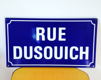 Vintage French Road Sign