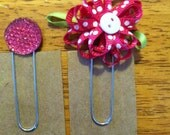 Set of 2 bookmarks-planner clips PINK