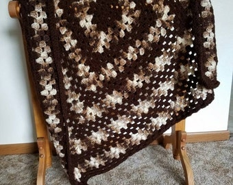 Mixed Browns Baby Blanket