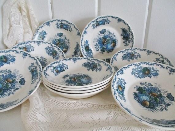 Vintage Masons Ironstone Fruit Bowls Set By