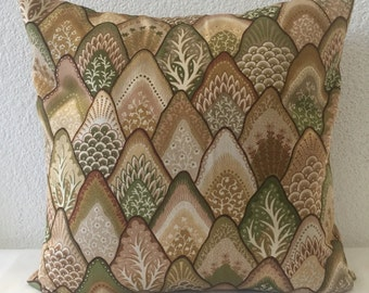 Neutral Pillow Covers-16x16 inch- Robert Allen Earth Tone Colors Home Decor Fabric, Throw Pillow Covers, Accent Home Decor Pillows