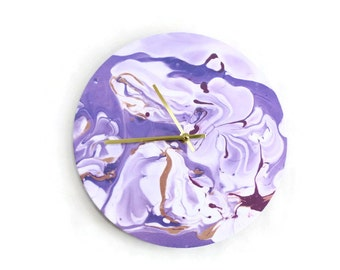 Wall Clock, Abstract Wall Art,  Housewarming Gift,  Home and LIving, Home Decor, Clocks
