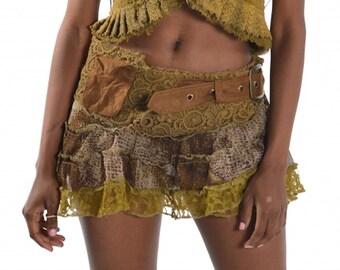 SALE! - PIXIE skirt, ASSORTED COLOURs - psytrance skirt, elf skirt, ethnic skirt, goa Skirt, wrap Skirt, Pixie Mini Skirt, Mfsknb