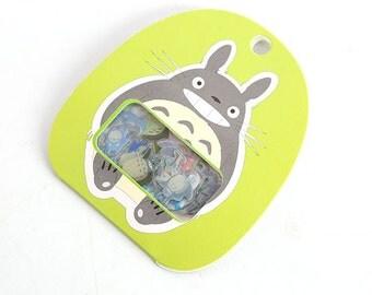 Diary Scrapbook Label Sticker Pack Totoro Green