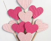 Animal Print Heart Cupcake Toppers Pink - VALENTINES DAY