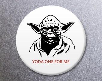 Funny Illustrated Star Wars Yoda Fridge Magnet