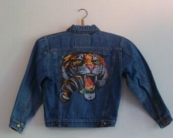 Kids tiger denim jacket